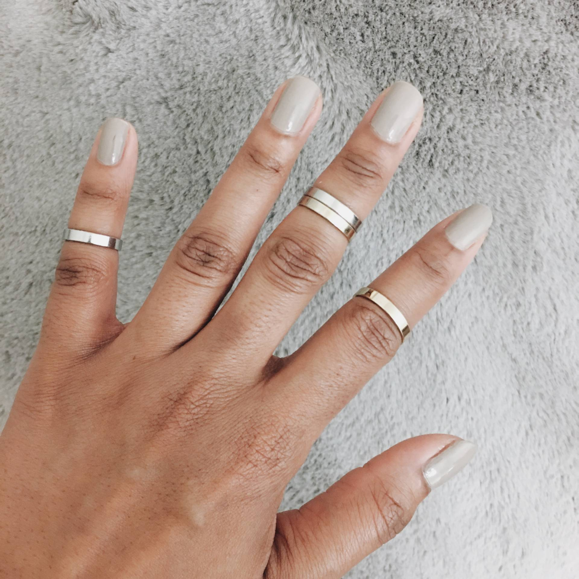 Grey Nails | An'Drea E Hall